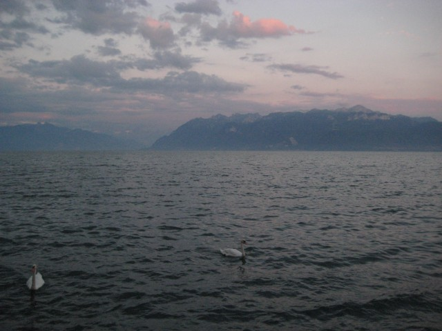 Lake Geneva and the Alps